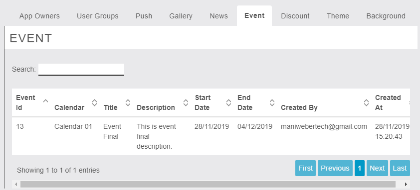 MigaAppManager - Event - Owner End